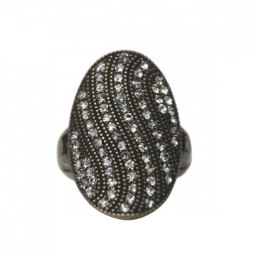 Ring Miriam, gun metal