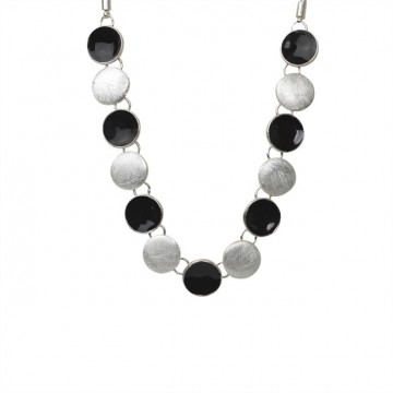 Necklace Hailey, silver/black